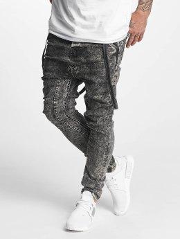 VSCT Clubwear Antifit-farkut Brad with Suspenders musta