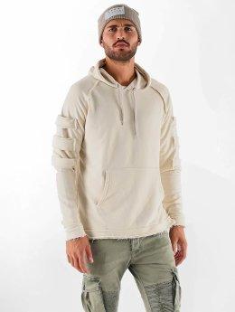 VSCT Clubwear Bluzy z kapturem Raw Edge Design bezowy