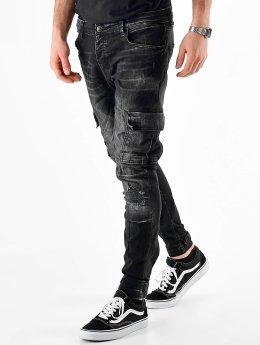 VSCT Clubwear Cargo pants Knox Adjust Hem čern