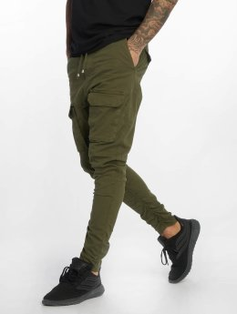 VSCT Clubwear Cargo pants Noah Gathered Leg hnědožlutý