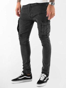 VSCT Clubwear Thor Slim Cargo Pants Black Rinsed