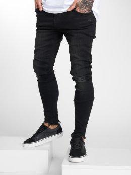 VSCT Clubwear dżinsy przylegające Thor czarny