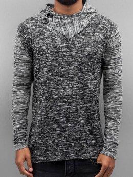 VSCT Clubwear Hoody 2 Btn Hooded Moulinee 2 Colour grijs