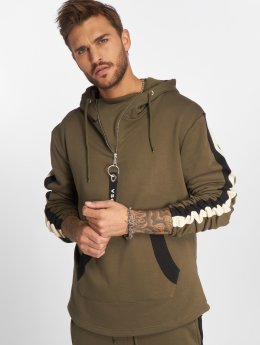 VSCT Clubwear Hupparit Striped khakiruskea