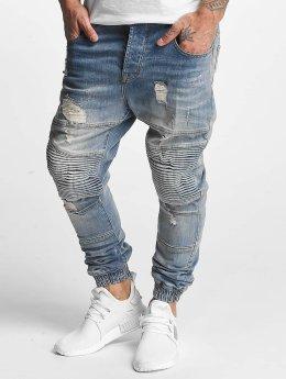 VSCT Clubwear Jean carotte antifit Clubwear Noah Biker bleu