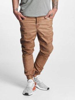 VSCT Clubwear Jean carotte antifit Noah Biker brun