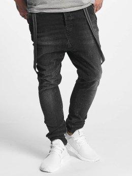 VSCT Clubwear Jean carotte antifit Brad Black Denim noir