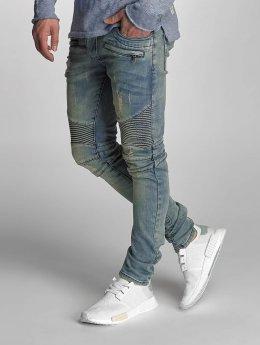 VSCT Clubwear Jean skinny Liam Biker bleu