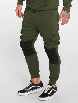VSCT Clubwear Jogging kalhoty Cargo Oiled hnědožlutý