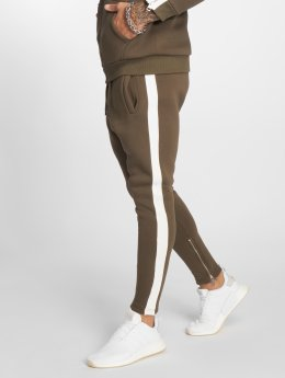 VSCT Clubwear Jogging kalhoty Stripe Track hnědožlutý