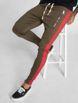 VSCT Clubwear Jogging kalhoty Stripe with Zip Pocket hnědožlutý