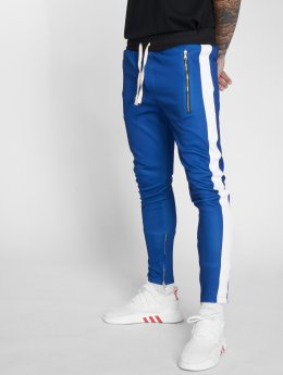 VSCT Clubwear Jogging kalhoty Stripe with Zip Pocket modrý