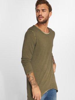 VSCT Clubwear Maglietta a manica lunga Longshirt Oilwash cachi