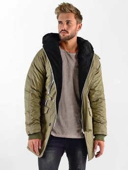 VSCT Clubwear Manteau hiver Double-Zipper Huge Luxury kaki