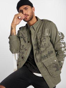VSCT Clubwear Prechodné vetrovky Handpaint Military šedá