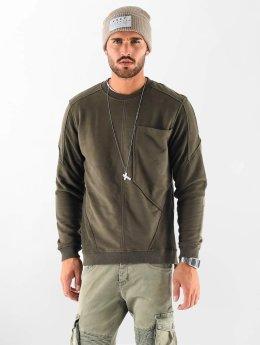 VSCT Clubwear Pulóvre Clubwear Flightsweat Backzip kaki