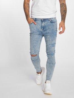 VSCT Clubwear Skinny Jeans Keanu Kneetcut `91 modrý