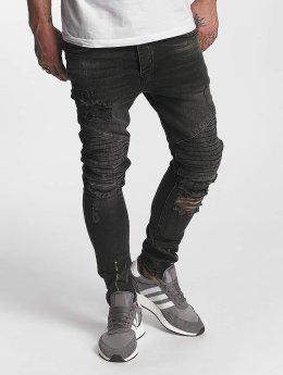 VSCT Clubwear Slim Fit Jeans Thor Biker Kneecut Slim grijs