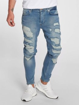 VSCT Clubwear Thor Slim Fit Jeans Blue Stoned Slashed