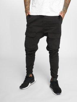 VSCT Clubwear Spodnie Chino/Cargo Noah Gathered Leg czarny