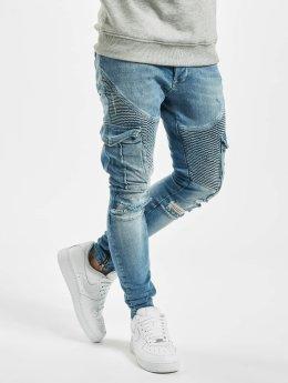 VSCT Clubwear Spodnie Chino/Cargo Keanu Denim Biker niebieski