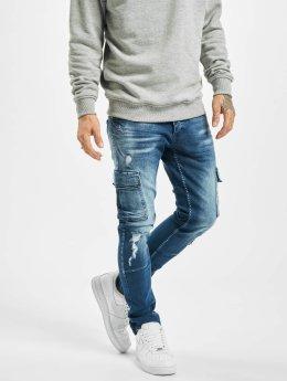 VSCT Clubwear Spodnie Chino/Cargo Clubwear Knox Adjust Hem niebieski