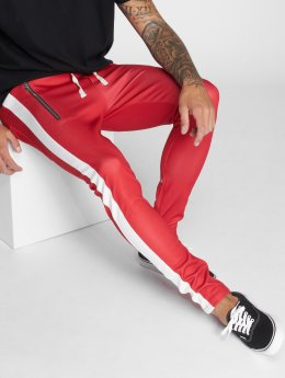 VSCT Clubwear Spodnie do joggingu Stripe with Zip Pocket czerwony