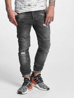 VSCT Clubwear Kevin Slim Biker Jeans Grey