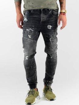 VSCT Clubwear Straight Fit Jeans Noah Biker svart