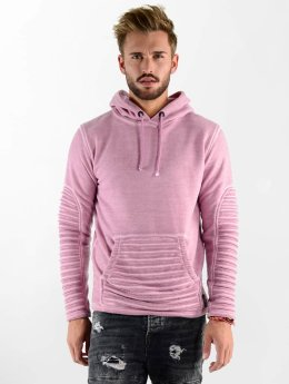 VSCT Clubwear Sweat capuche Biker Oilwash rose
