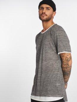 VSCT Clubwear 2 on 1 T-Shirt Grey Melange/White