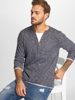 VSCT Clubwear T-Shirt manches longues Buttoned Double Optic Basic indigo