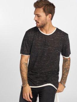 VSCT Clubwear t-shirt 2 on 1 zwart