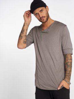 VSCT Clubwear T-Shirty 1/2 Cut Collar szary