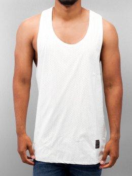 VSCT Clubwear Tanktop Allover Leathermesh wit