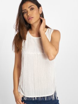 VSCT Clubwear Topssans manche Fringes blanc