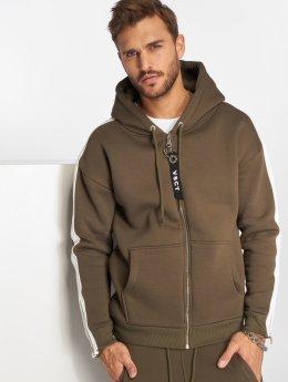 VSCT Clubwear Vetoketjuhupparit Striped khakiruskea