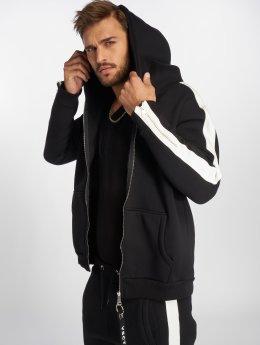 VSCT Clubwear Vetoketjuhupparit Striped musta