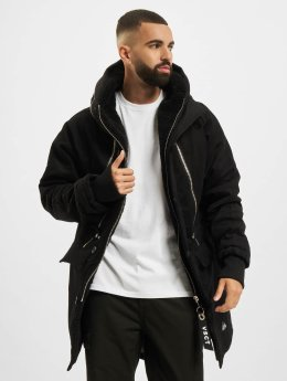 VSCT Clubwear Winter Jacket Double Zipper Huge Luxury black