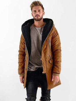 VSCT Clubwear Winterjacke Double-Zipper Huge Luxury Sherpa braun