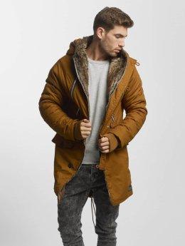 VSCT Clubwear winterjas Double-Zipper bruin