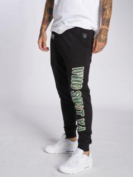 Who Shot Ya? Спортивные брюки Camou Funk черный