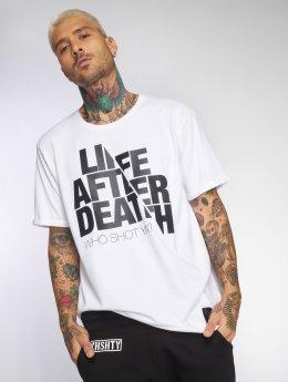 Who Shot Ya? Футболка Life after death белый