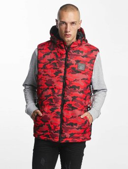 Who Shot Ya? Gilet BigWho Quilted rosso