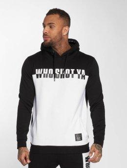Who Shot Ya? Hoodies B and W čern