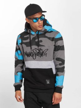 Who Shot Ya? Hoodies Devious WW modrý