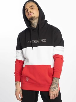 3 Tone Hoody Black/White/Red
