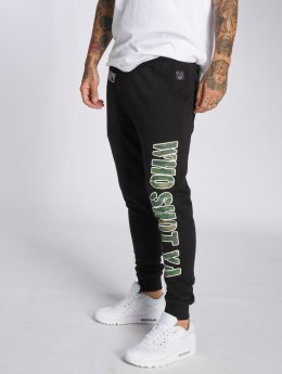 Who Shot Ya? Camou Funk Sweatpants Black