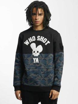 Who Shot Ya? Pullover Darkcamou black