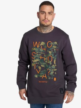 Who Shot Ya? Pullover Shotulous grau